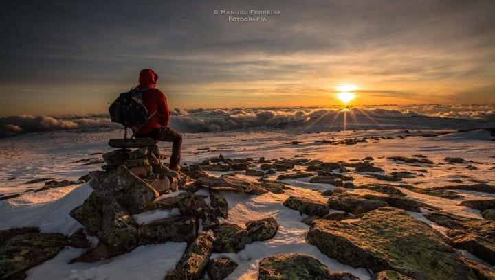 Sol neve na Serra da Estrela